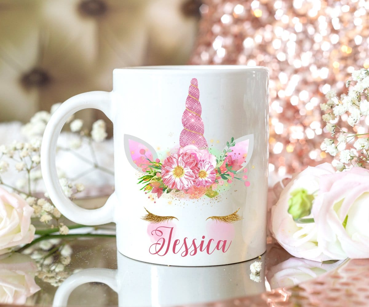 Pink Unicorn Mug Personalized Gift For Her