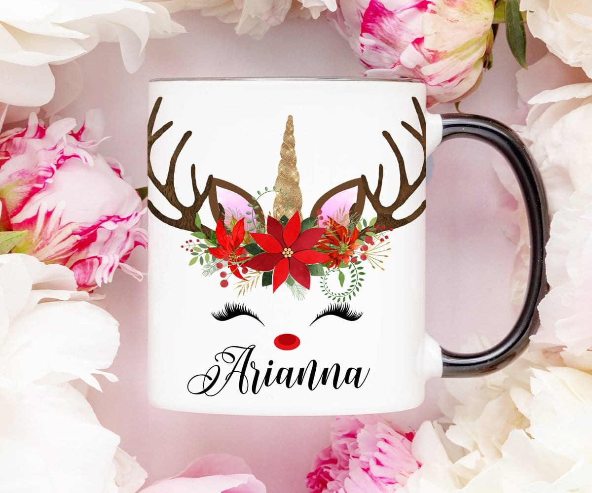 Personalized Christmas Reindeer Mug
