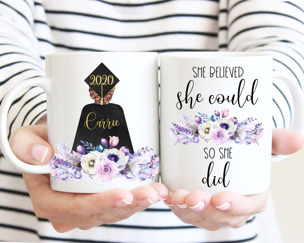 Graduation Gift For Her She Believed She Could So She Did Personalized Mug