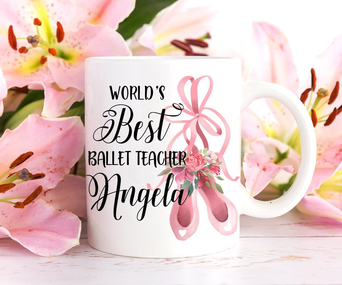 Personalized Ballet Teacher Gift Coffee Mug
