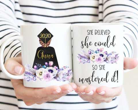 Graduation Gift For Her She Believed She Could So She Mastered It Personalized Mug