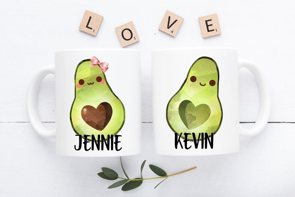 Avocado Mugs Personalized Mug Set
