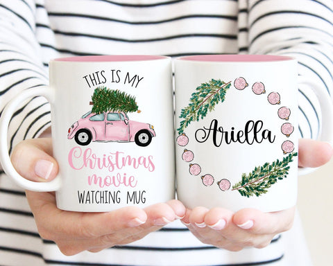 This Is My Christmas Movie Watching Mug Personalized