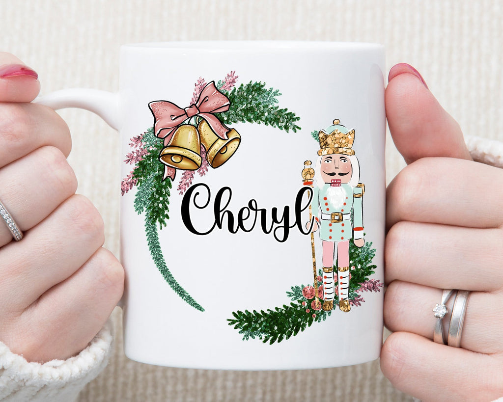 Personalized Name Nutcracker Christmas Mug