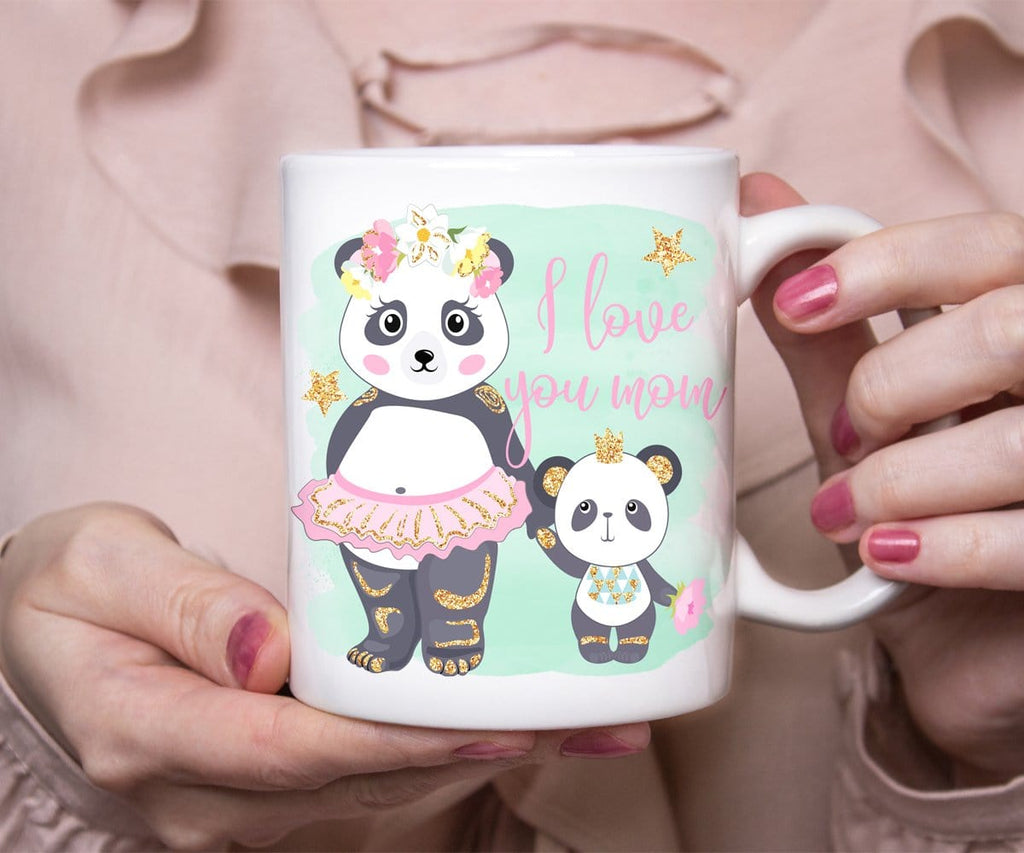 Mother's Day Gift, I Love You Mom Panda Mug