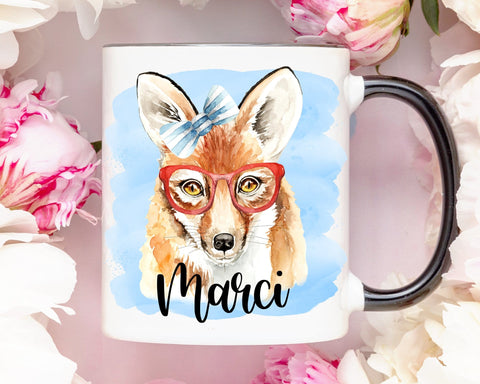 Personalized Fox Coffee Mug