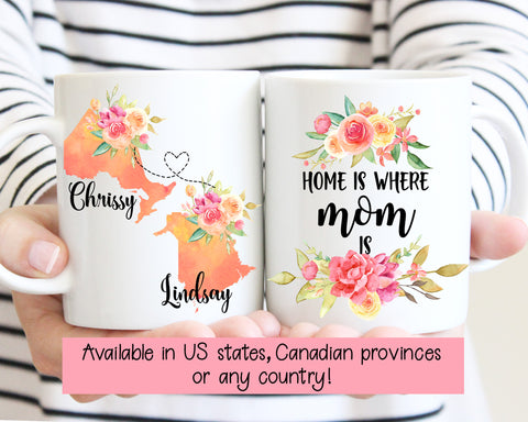 Home Is Where Mom Is Long Distance Mug