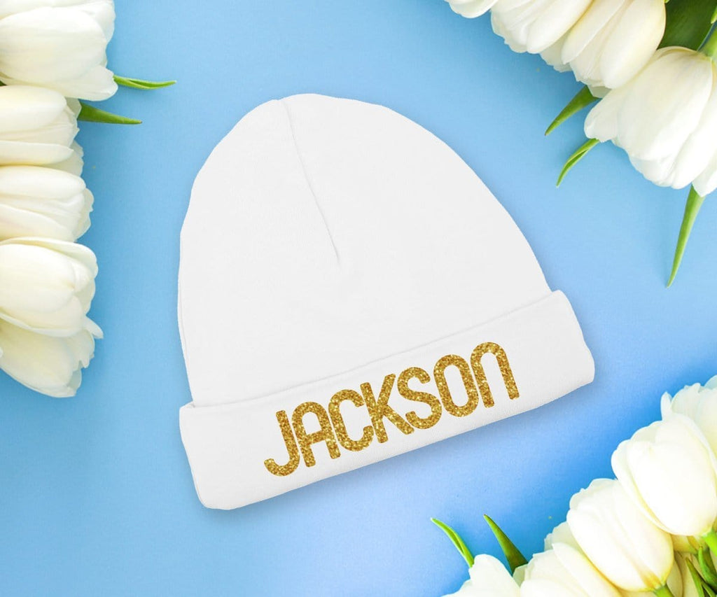 Personalized Baby Boy Hat Newborn Coming Home Cap
