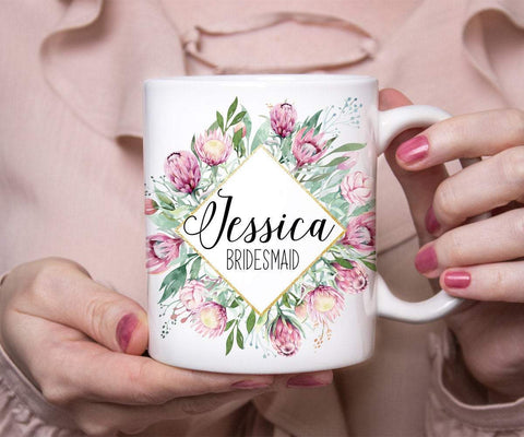 Bridesmaid Proposal Personalized Name Mug