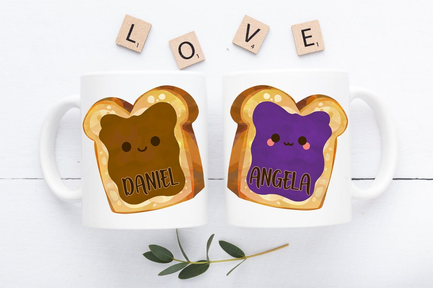 Peanut Butter And Jelly Couple Mug Set Personalized Gift
