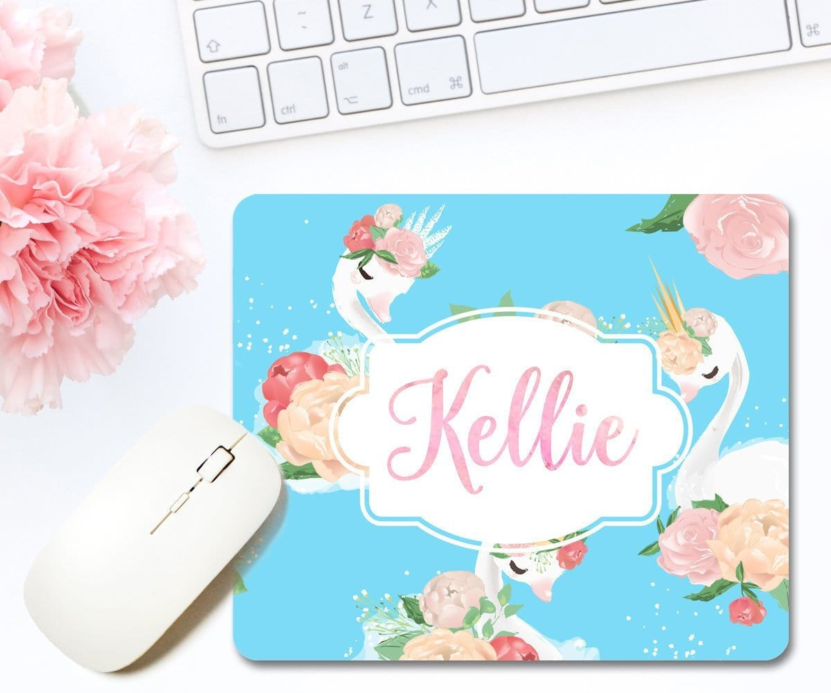 Personalized Swan Mouse Pad