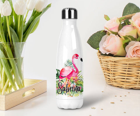Flamingo Gifts Personalised Water Bottle Personalized