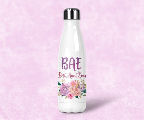 BAE Best Aunt Ever Water Bottle, Pregnancy Announcement Gift