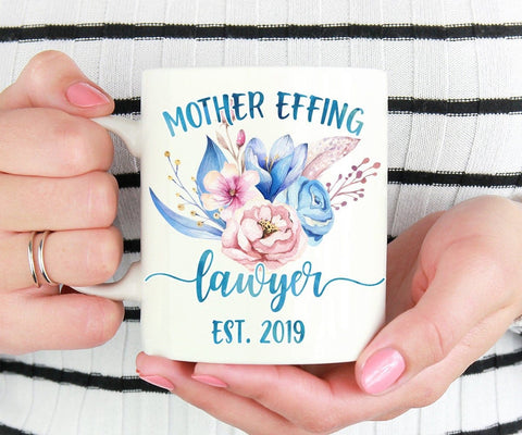 Mother Effing Lawyer, Lawyer Coffee Mug, New Lawyer Gift, Law School Graduation Gift