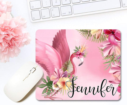 Personalized Flamingo Mouse Pad