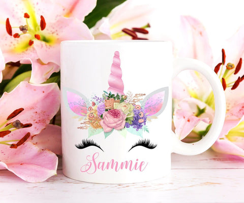 Personalized Unicorn Eyelashes Mug