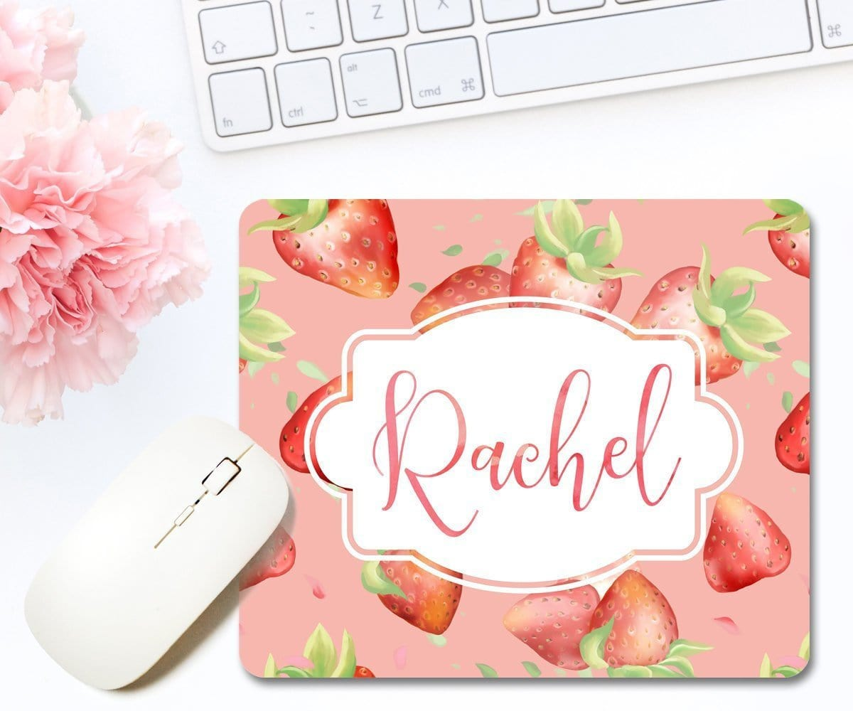 Strawberries Mouse Pad Personalized Gift