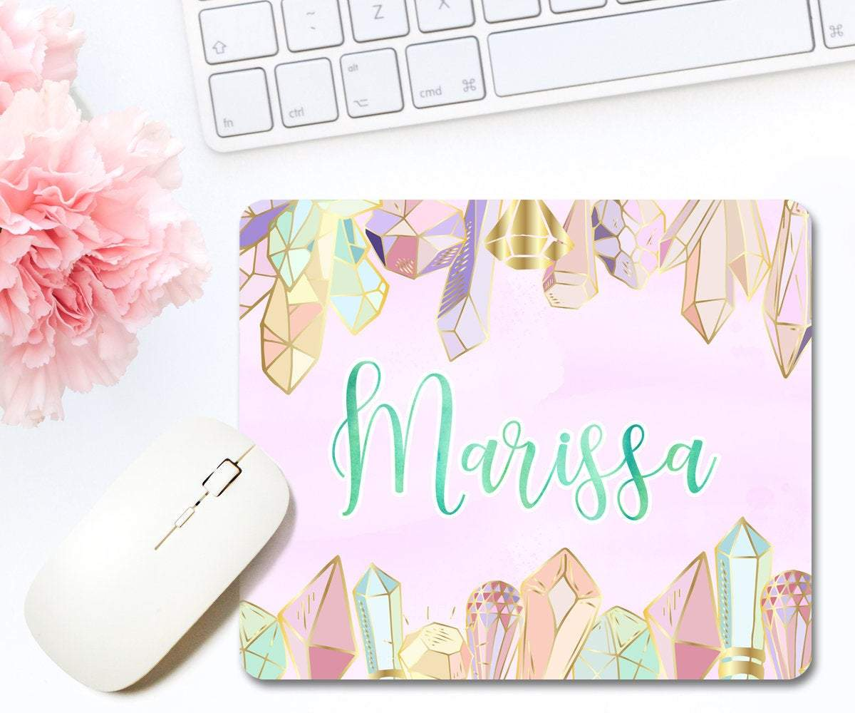 Crystals Mouse Pad With Personalized Name