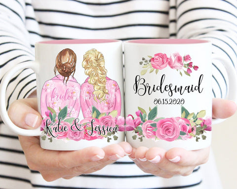 Bridesmaid Proposal Gift Custom Portrait Mug