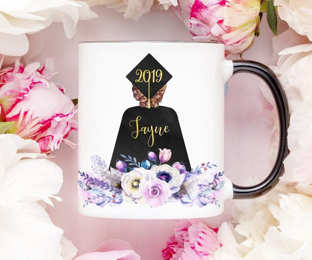 Graduation Gift for Her Personalized Cap and Gown Mug