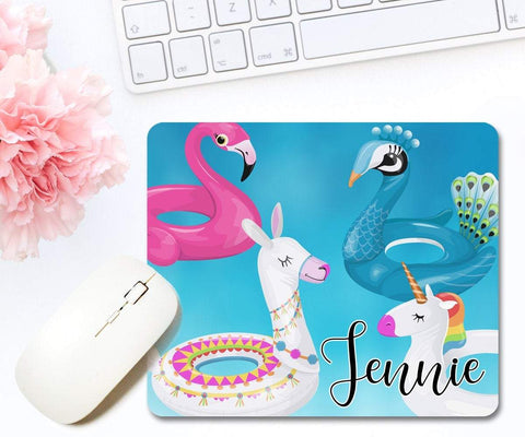 Personalized Floatie Mouse Pad, Summer Décor