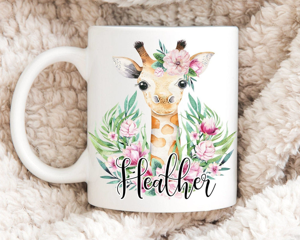 Personalized Giraffe Coffee Mug