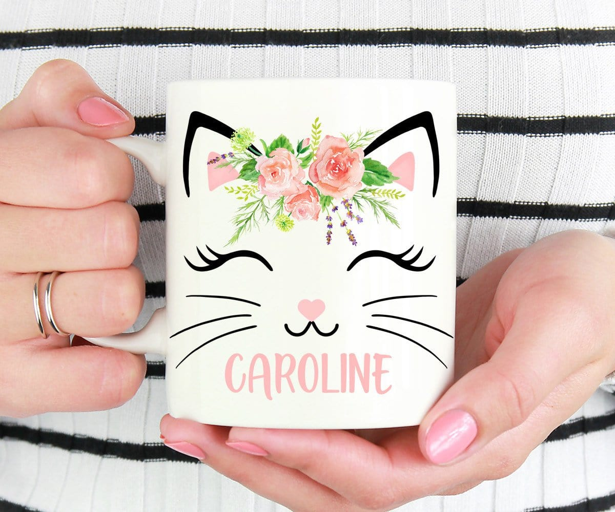 Personalized Name Cat Mug