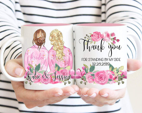Personalized Bridesmaid Portrait Mug