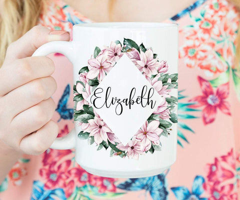 Magnolia Mug Personalized with Name