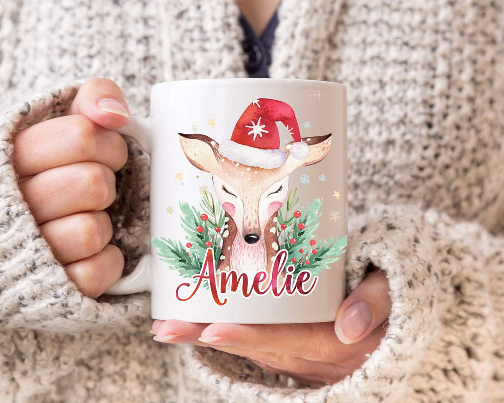 Reindeer Personalized Family Christmas Mug