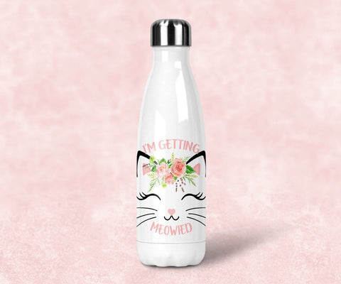 I'm Getting Meowied Steel Water Bottle, Bridal Shower Gift
