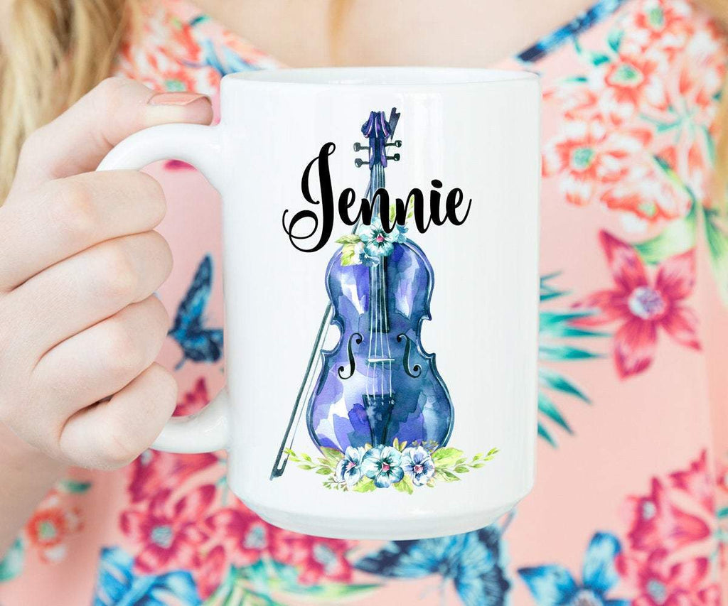 Personalized Violinist Gifts Coffee Mug