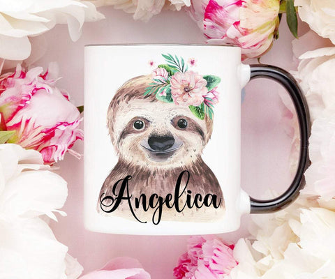 Personalized Sloth Mug Coffee Mug