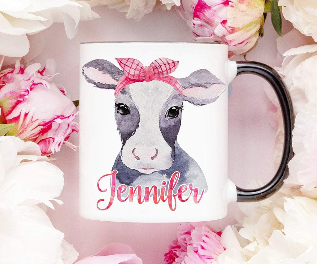 Personalized Cow Mug Coffee Cup Gift For Friend