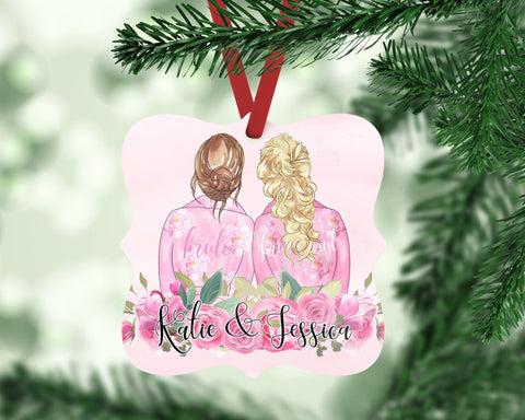 Personalized Bridesmaid Portrait Ornament Gift for Bridal Party