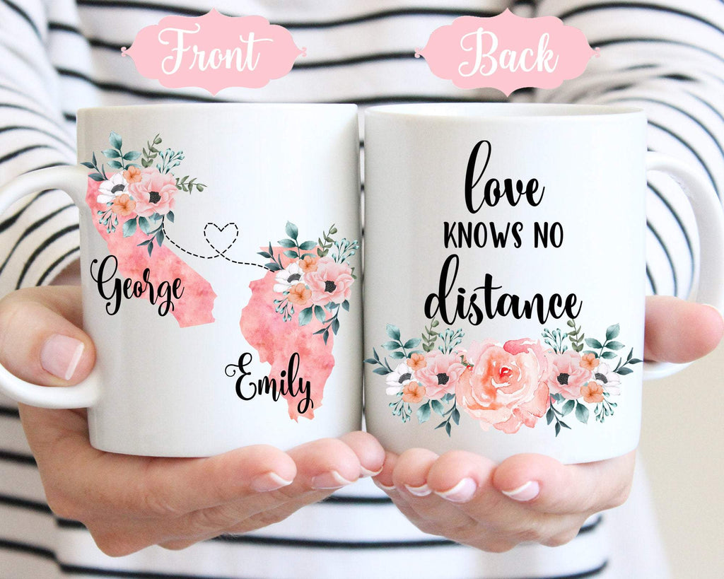 Long Distance Relationship Gift State to State Mug