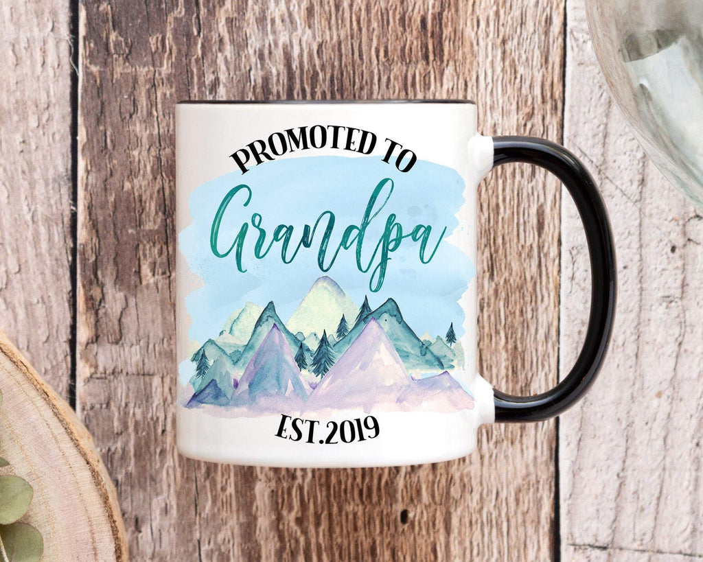 Promoted To Grandpa Personalized Coffee Mug Pregnancy Announcement
