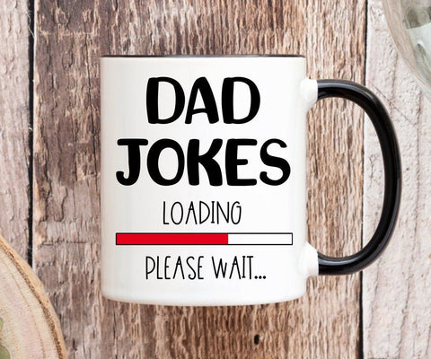 Dad Jokes Loading Funny Father's Day Mug