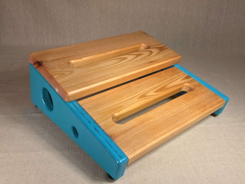 PRE-Order - Hot Box 2.0 Double Decker Mini - Pedalboard - Turquoise & Western Cedar by KYHBPB
