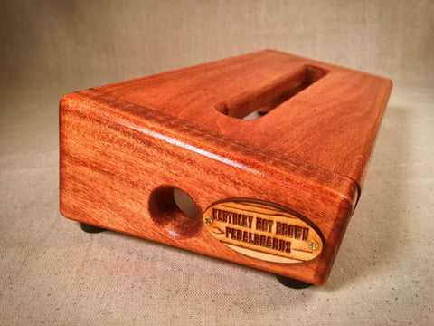 PRE-Order - The Hot Box 2.0 Mini - Traditional Cherry Pedalboard by KYHBPB,Pedalboards,Kentucky Hot Brown Pedalboards,Kentucky Hot Brown Pedalboards, LLC