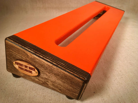 PRE-Order - Hot Box 2.0 - Orange & Jacobean - Pedalboard by KYHBPB,Pedalboards,Kentucky Hot Brown Pedalboards,Kentucky Hot Brown Pedalboards, LLC