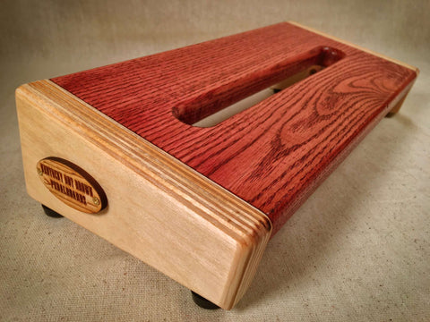 PRE-Order - The Hot Box 2.0 Mini - Oak Top - Cabernet Pedalboard by KYHBPB,Pedalboards,Kentucky Hot Brown Pedalboards,Kentucky Hot Brown Pedalboards, LLC