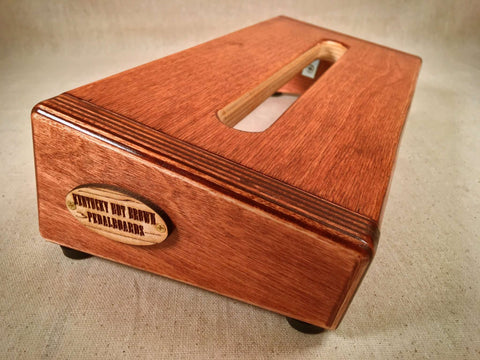 PRE-Order Hot Box Mini 2.0 - Cognac Stain - Pedalboard by KYHBPB,Pedalboards,Kentucky Hot Brown Pedalboards,Kentucky Hot Brown Pedalboards, LLC