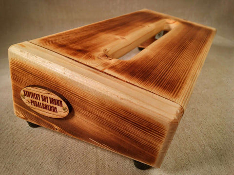 PRE Order - The Hot Box 2.0 Mini - Burned Pine Pedalboard by KYHBPB1