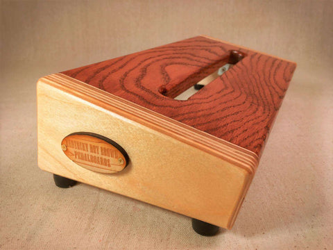 PRE-Order - The Hot Box 2.0 Mini - Oak Top Cognac Pedalboard by KYHBPB,Pedalboards,Kentucky Hot Brown Pedalboards,Kentucky Hot Brown Pedalboards, LLC