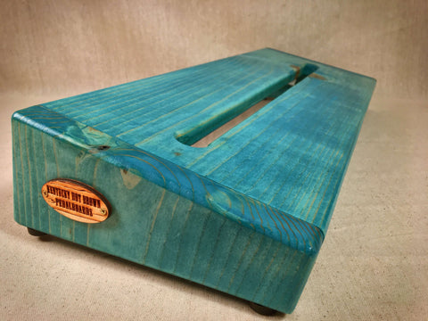 PRE-Order - The Hot Box 2.0 Rough Rider Large - Teal Stain Pedalboard by KYHBPB