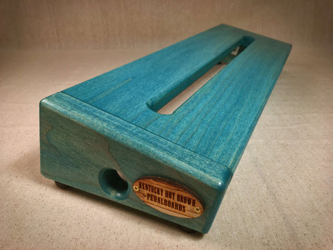 PRE-Order - The Hot Box 2.0 Standard - Poplar - Teal Stain Pedalboard by KYHBPB