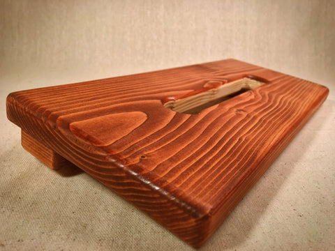 PRE-Order - Hot Box Mini Po'Boy Pedalboard - American Walnut by KYHBPB,Pedalboards,Kentucky Hot Brown Pedalboards,Kentucky Hot Brown Pedalboards, LLC