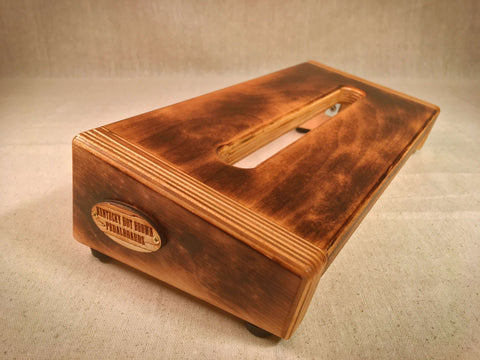 PRE-Order - Hot Box Mini 2.0 - Burned Pecan Stain - Pedalboard by KYHBPB,Pedalboards,Kentucky Hot Brown Pedalboards,Kentucky Hot Brown Pedalboards, LLC
