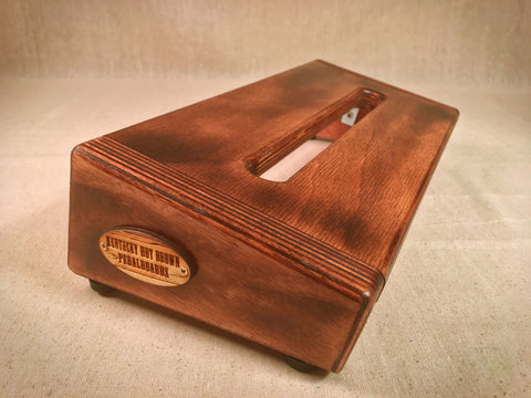 PRE-Order - Hot Box Mini 2.0 - Burned Bombay Mahogany Stain - Pedalboard by KYHBPB,Pedalboards,Kentucky Hot Brown Pedalboards,Kentucky Hot Brown Pedalboards, LLC